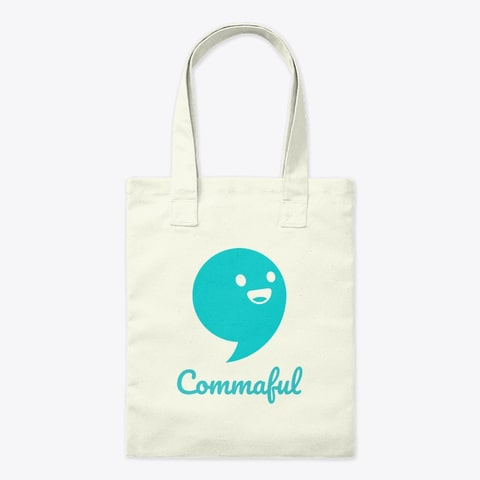 Commaful Tote Bag
