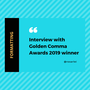 Interview with Golden Comma Awards 2019 winner interview with bashayar stories