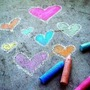 Hearts on the Pavement  chalk stories