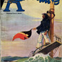 """ADVENTURE MAGAZINE  """"By Lunch, I Was       Sinking Fast""""                             A short short story                                 by V. Manuel Baca    35 cents USA 40 dollars Canada         international spy stories"""