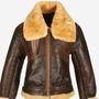 B3 Bomber Real Sheepskin Leather Shearling Coat Jacket b3 bomber jacket stories