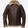 Brown B3 Shearling Bomber Sheepskin Leather Jacket for Men brown b3 jacket stories