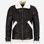 Original Sheepskin Shearling Bomber Brown Jacket   bomber brown jacket stories